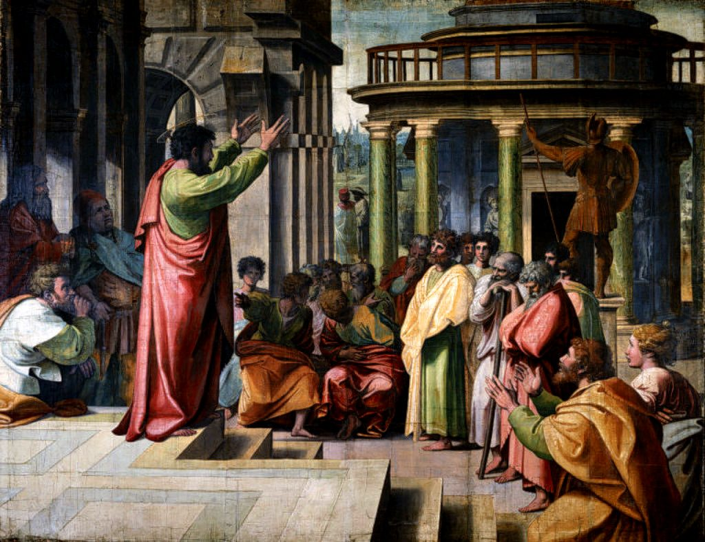 V&A-Raphael, St Paul Preaching in Athens